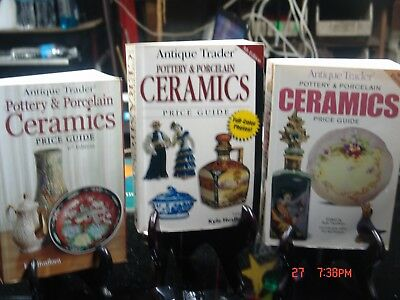 Three Ceramics books by Antique Trader 4th, 5th and 6th edition
