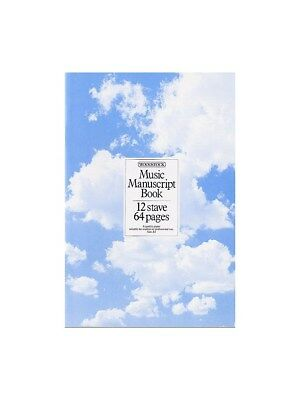 Woodstock Music Manuscript Paper: 12 Stave - 64 pages (A4 Stitched). Book