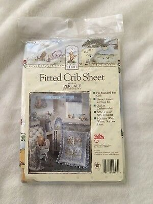 CLASSIC WINNIE THE POOH & His Friends Crib/Toddler Fitted SHEET Polyester Cotton