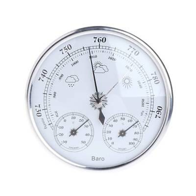 Hanging Wall Weather Station Barometer Thermometer Hygrometer 130mm 970~1040hPa