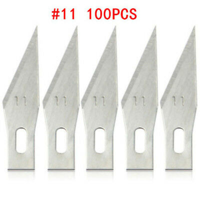 100pcs #11 Replacement Hobby Classic Fine Point Blades high steel Craft Knife ♫