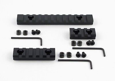 "NEW M-Lok 3 5 11 Slot Picatinny/Weaver Rail Section Aluminum 1.5"" 2.5"" 5"" - 3PCS"