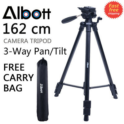 "Albott 64"" Pro Heavy Duty Aluminium Tripod&Pan Head for Digital DSLR Camera"
