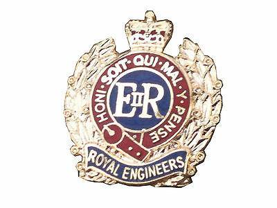 Royal Corps of Engineers Lapel Regimental Military Badge