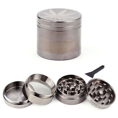 Couleur Carbone 40mm Broyeur a main Moulin Herbe Epice pollen 4 couches Grinder