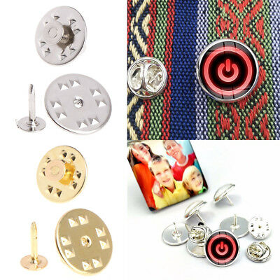 100Pcs Tie Tack Clutch Pins Round Butterfly Brass DIY Jewelry Replacement Craft