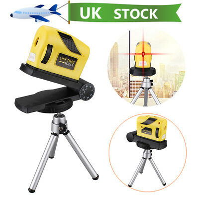 360° Rotary Laser Level Micro Tuning Cross Line Measuring Tool + Tripod Stand