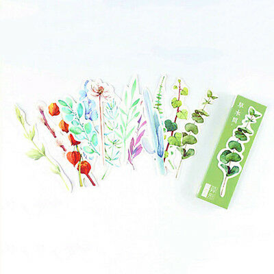 30Pcs Cute Plant  Bookmarks Marker Stationery Office School Supply 6A