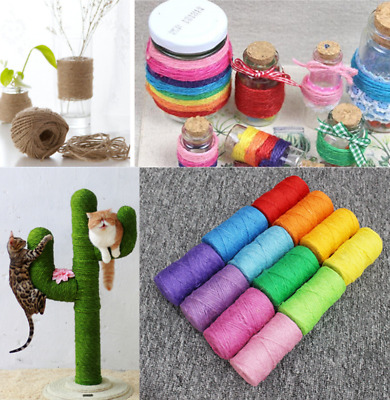 4mm Diameter 50M Sisal Rope Cat Toy Scratch Board Rope Climbing Frame Tree Rope