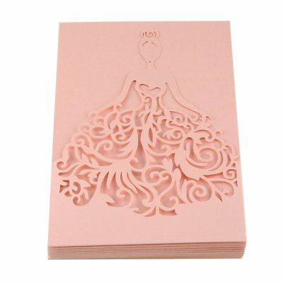 20pcs Foldable Invitation Card Cover Hollow Out Bridal Wedding Dress Cover TOP