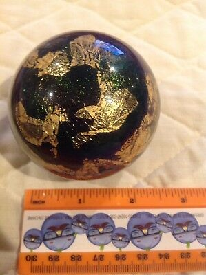 Stunning Carlson Art Glass Iridescent Paperweight Signed Richardson CAG 1992