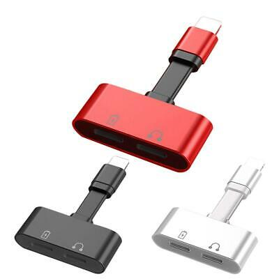 2 In1 Phone Lightning Adapter Cable Audio Splitter Charge For Apple IPhone7/8/X