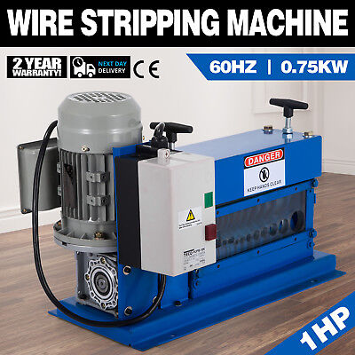 Portable Powered Electric Wire Stripping Machine 750W Φ1.02~ 25mm 1HP GOOD