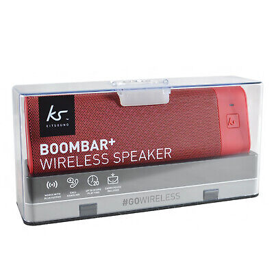 Kitsound Boombar+ Wireless Portable Stereo Bluetooth Speaker With Call Handling