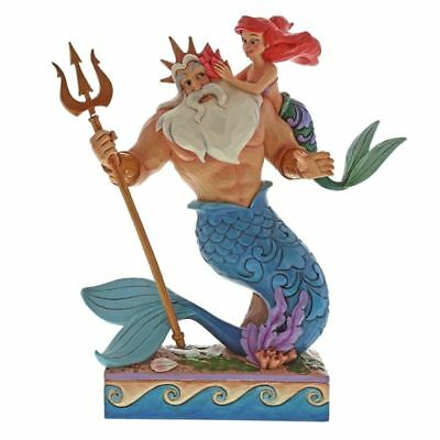 Official Disney Ariel and Triton Daddy's Little Princess Figurine Ornament