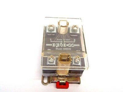 Opto 22 380D25 Solid State Relay 3-32VDC 380VAC 25AMP 25 to 65 Hz