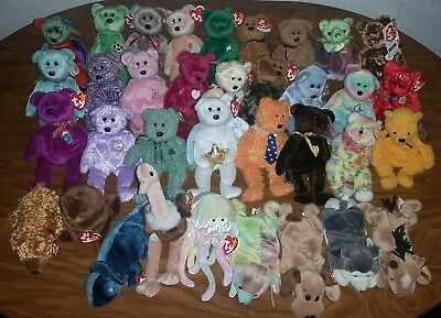 Beanie Babies lot, Adult's Collection of 35 different TY Beanie Babies