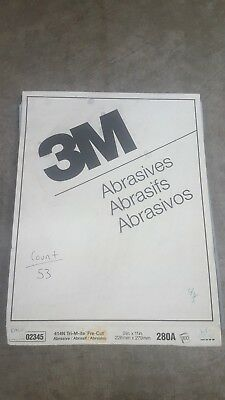 Assorted 3m Sandpaper 9x11 inch sheets of various grits and types