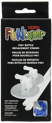 2 Soft Silicone Thermos Replacement Straws for 12 Ounce Funtainer Bottle Clear