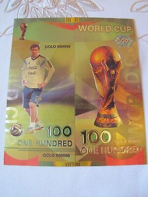 2018 Russia World Football Cup FIFA 100 Roubles  Banknotes Argentina Messi