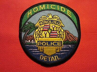 Collectible Hawaii Police Patch, Honolulu Homicide, New