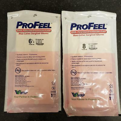 profeel sterile non latex surgical gloves