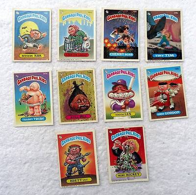 1986 Lot Of 10 Garbage Pail Kids Topps Chewing Gum Still Jill #s88