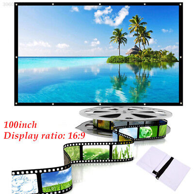 Movie Screen Projector Cloth Screen Gaming Home Theater Outdoor School