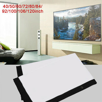 Folded Projection Screen Projector Screen Oudoor Home Theater Gaming Business