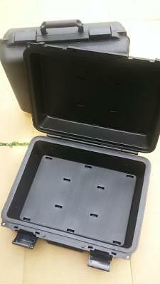 """2- New Black Hard Plastic Tool Storage Carrying Cases 17""""x14""""x6.5"""" Outside Dim."""