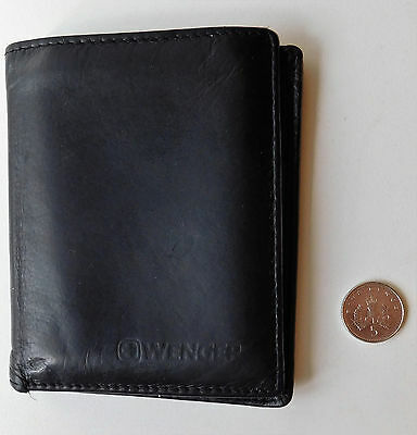 Black Wenger wallet small credit card holder black