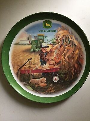 John Deere Collectible Dinner Plate By Gibson Boy W/ Dog