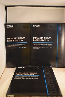 Set of 3 Epson S045589 Professional Series Metallic Photo Paper Glossy 25 Sheets