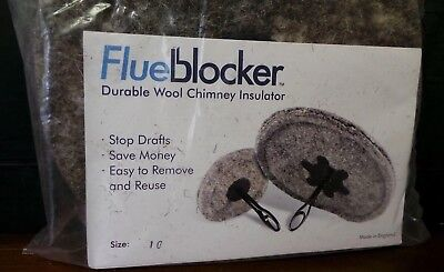 New Flue Blocker Durable Wool Chimney Insulator Plug- 10""