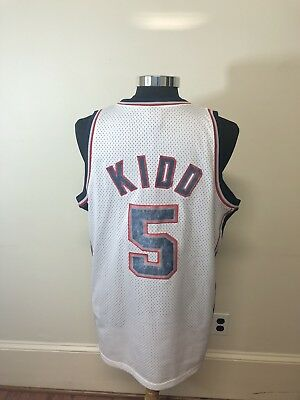 Nike Team NBA Basketball Jason Kidd New Jersey Nets Sewn Jersey Large +2 HOF 62a4fb4cd