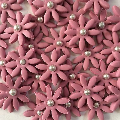 Flowers Edible Cake, Cup Cake Toppers x  30 Dusty Pink