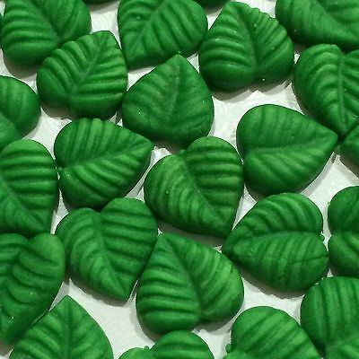 Edible Leaves Cake Cup Cake Toppers X 30 Green