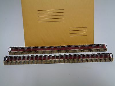 "Clipper Aligator lacing clips, two 12"" strips #5"