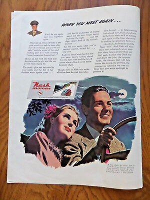 1945 Nash Kelvinator Ad WW 2  When you Meet Again