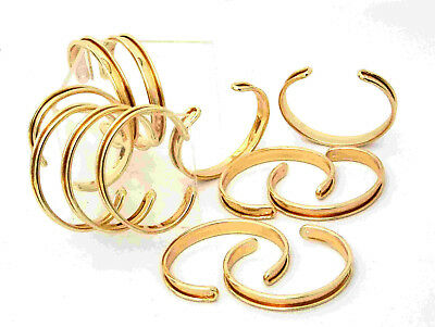 Gold Plated Channeled Bracelet Cuff Blanks 3/8 Inch Package Of 12
