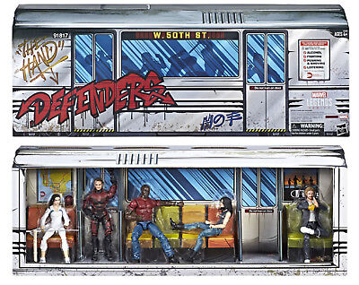SDCC 2018 Hasbro Exclusive Marvel Legends Series Defenders Rail Authority 5-Pack