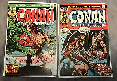 Conan the Barbarian #23 & #37 1st Appearance Red Sonja Marvel 1973