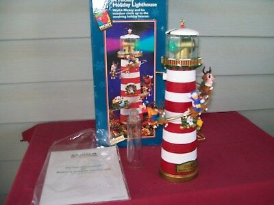 1996 Mr Christmas Mickey Holiday Lighthouse Tree Topper / Centerpiece