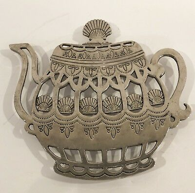 RARE Trivet Teapot Silver-plated VINTAGE unbranded footed Victorian/English