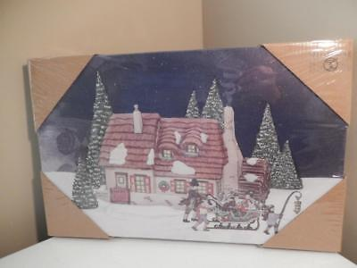 "Department 56 - Dickens Family Home - Light up Canvas 16"" x 10"" (Free Shipping)"