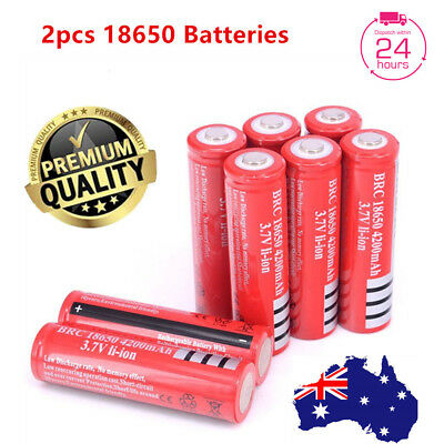 2x Ultrafire BRC 18650 3.7V Rechargeable Lithium Battery Li-ion Batteries