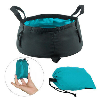 Foldable Wash Basin Sink Water Bag Portable 8.5L For Camping Hiking Outdoor w