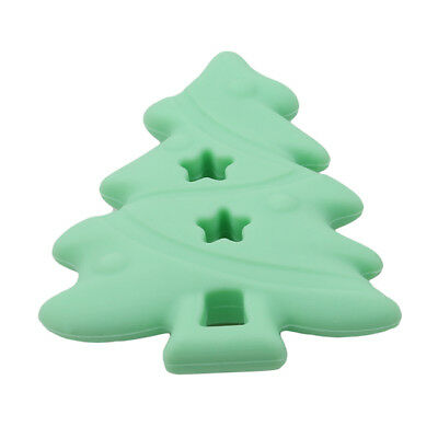 Christmas Tree Silicone Pendant Teether Baby Pacifier Dummy Teething Nursing LG