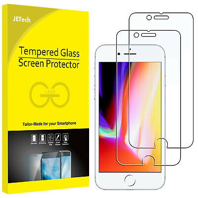 JETech Screen Protector for iPhone 8 7 iPhone 6s 6 Tempered Glass Film 2-Pack