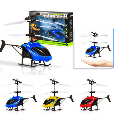 Mini Drone Flying Helicopter RC Infrared Induction Flashing Light Toys For Kids